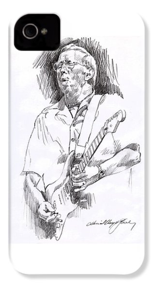 Eric Clapton Blue IPhone 4s Case by David Lloyd Glover
