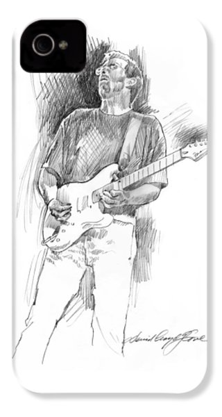 Eric Clapton Strat IPhone 4s Case by David Lloyd Glover