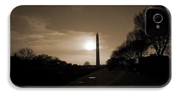 Evening Washington Monument Silhouette IPhone 4s Case by Betsy Knapp