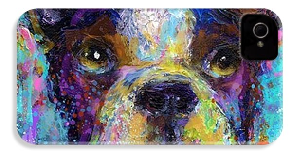 Expressive Boston Terrier Painting By IPhone 4s Case