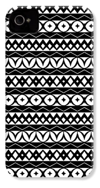Fair Isle Black And White IPhone 4s Case by Rachel Follett