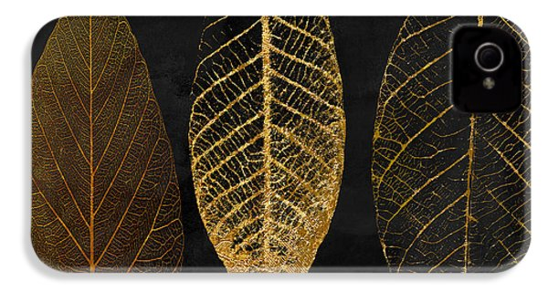 Fallen Gold II Autumn Leaves IPhone 4s Case by Mindy Sommers