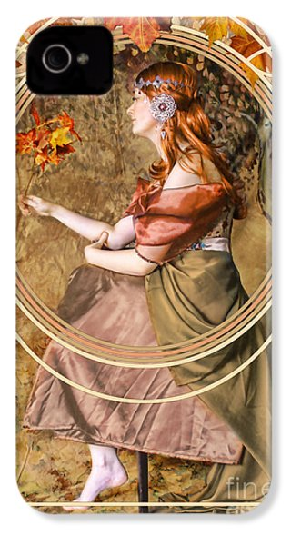 Falling Leaves IPhone 4s Case by John Edwards