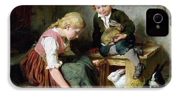 Feeding The Rabbits IPhone 4s Case by Felix Schlesinger