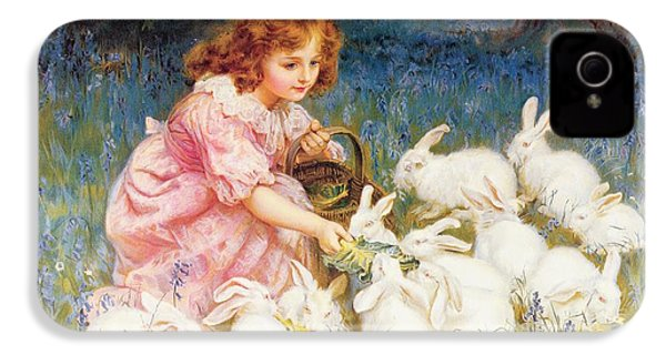Feeding The Rabbits IPhone 4s Case by Frederick Morgan