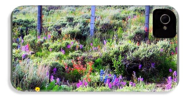 Field Of Wildflowers IPhone 4s Case by Karen Shackles