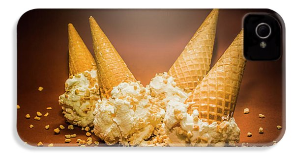 Fine Art Ice Cream Cone Spill IPhone 4s Case by Jorgo Photography - Wall Art Gallery