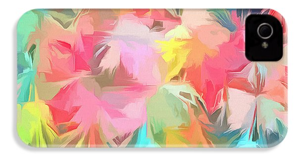 Fireworks Floral Abstract Square IPhone 4s Case by Edward Fielding