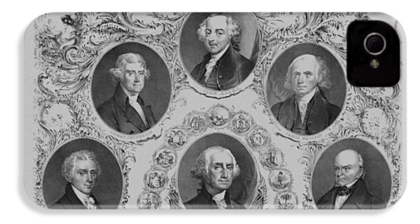First Six U.s. Presidents IPhone 4s Case by War Is Hell Store