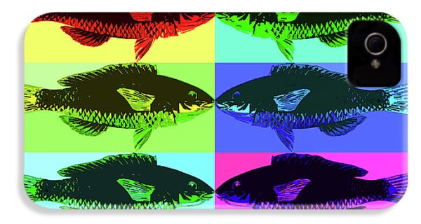 IPhone 4s Case featuring the digital art Fish Dinner Pop Art by Nancy Merkle