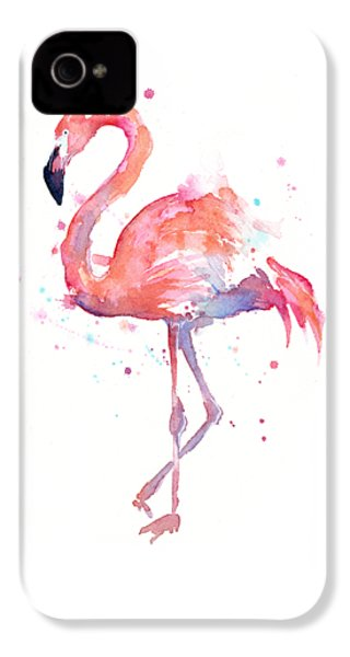 Flamingo Watercolor IPhone 4s Case by Olga Shvartsur