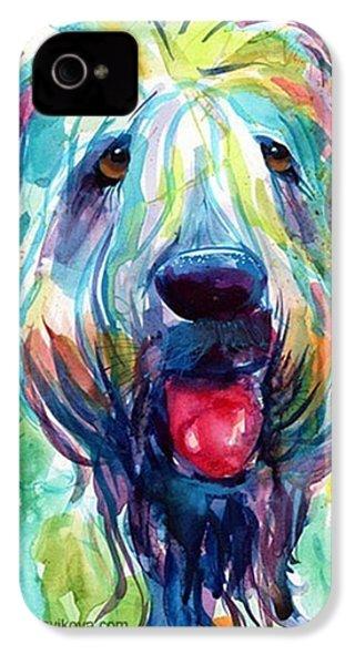 Fluffy Wheaten Terrier Portrait By IPhone 4s Case