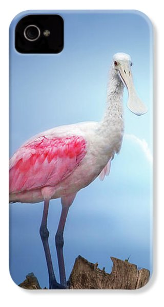 Foggy Morning Spoonbill IPhone 4s Case
