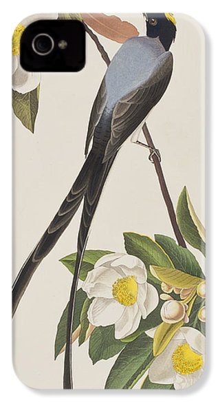 Fork-tailed Flycatcher  IPhone 4s Case by John James Audubon