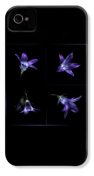 Four Bluebell Flowers - Light Painting IPhone 4s Case