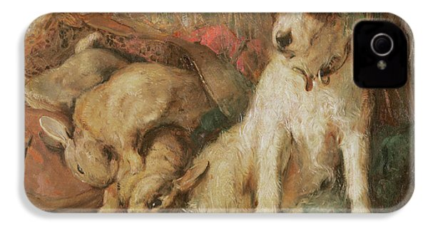 Fox Terrier With The Day's Bag IPhone 4s Case by English School