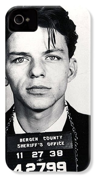 Frank Sinatra Mug Shot Vertical IPhone 4s Case by Tony Rubino