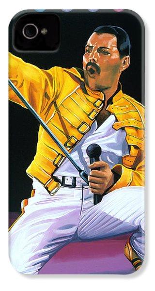 Freddie Mercury Live IPhone 4s Case by Paul Meijering