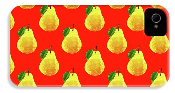 Fruit 03_pear_pattern IPhone 4s Case by Bobbi Freelance