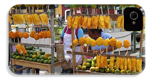 Fruit Stand Antigua  Guatemala IPhone 4s Case by Kurt Van Wagner