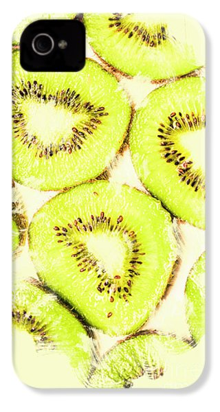 Full Frame Shot Of Fresh Kiwi Slices With Seeds IPhone 4s Case by Jorgo Photography - Wall Art Gallery