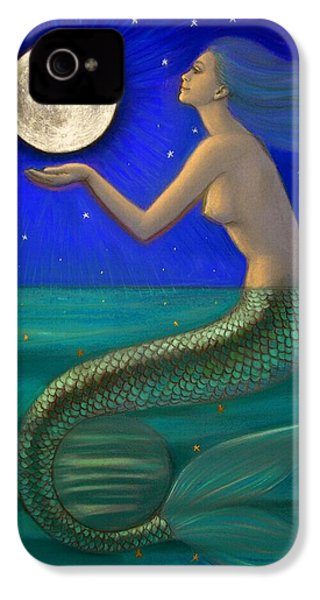 Full Moon Mermaid IPhone 4s Case by Sue Halstenberg