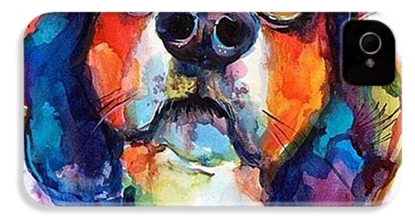 Funny Beagle Watercolor Portrait By IPhone 4s Case