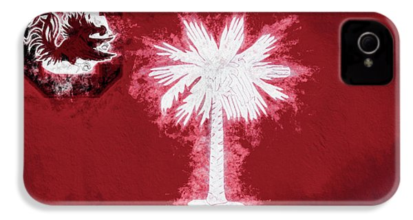 IPhone 4s Case featuring the digital art Gamecocks South Carolina State Flag by JC Findley