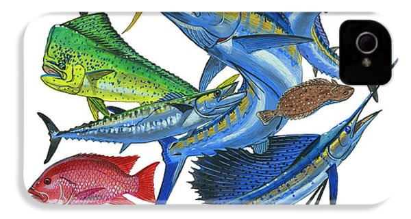 Gamefish Collage IPhone 4s Case by Carey Chen