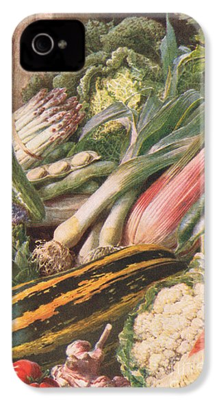 Garden Vegetables IPhone 4s Case by Louis Fairfax Muckley