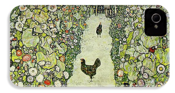 Garden With Chickens IPhone 4s Case