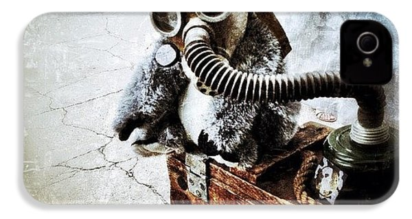 Gas Mask Koala IPhone 4s Case by Natasha Marco