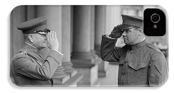 General John Pershing Saluting Babe Ruth IPhone 4s Case by War Is Hell Store
