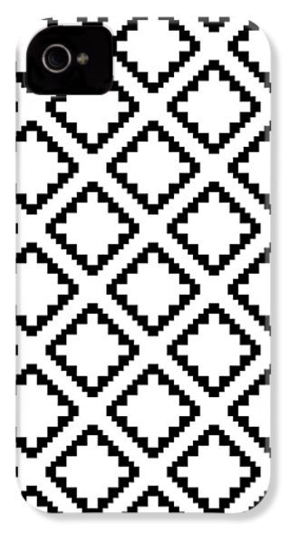 Geometricsquaresdiamondpattern IPhone 4s Case by Rachel Follett