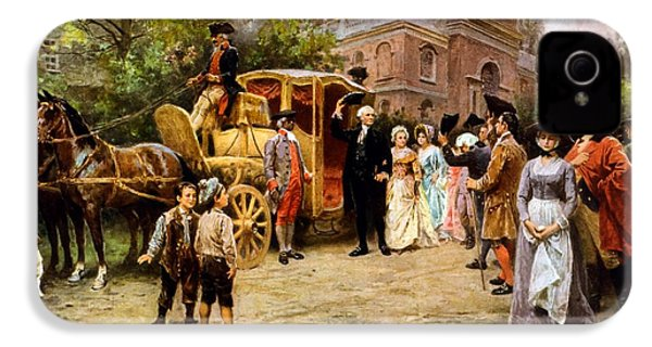 George Washington Arriving At Christ Church IPhone 4s Case by War Is Hell Store