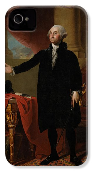George Washington Lansdowne Portrait IPhone 4s Case by War Is Hell Store