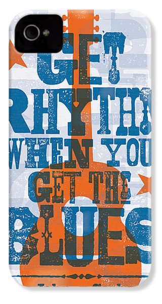 Get Rhythm - Johnny Cash Lyric Poster IPhone 4s Case