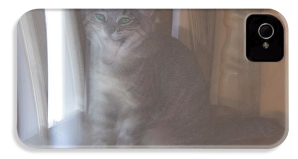 Ghost Cat IPhone 4s Case by Yulia Kazansky