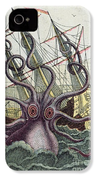 Giant Octopus IPhone 4s Case by Denys Montfort