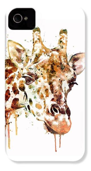 Giraffe Head IPhone 4s Case by Marian Voicu