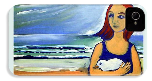 Girl With Bird IPhone 4s Case by Winsome Gunning