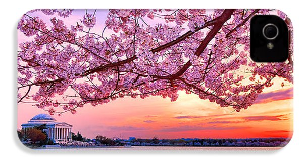 Glorious Sunset Over Cherry Tree At The Jefferson Memorial  IPhone 4s Case