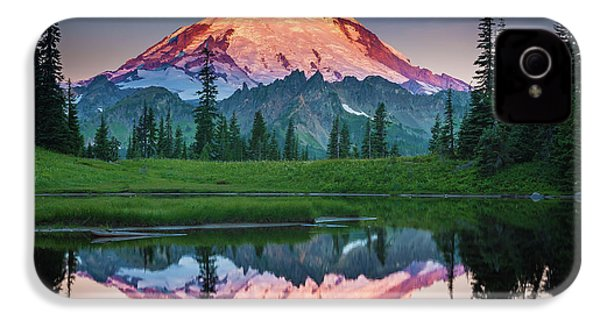 Glowing Peak - August IPhone 4s Case by Inge Johnsson