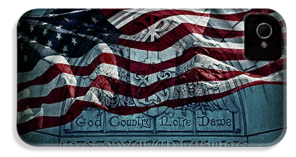 God Country Notre Dame American Flag IPhone 4s Case