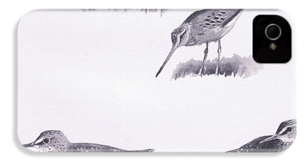 Godwits And Green Sandpipers IPhone 4s Case
