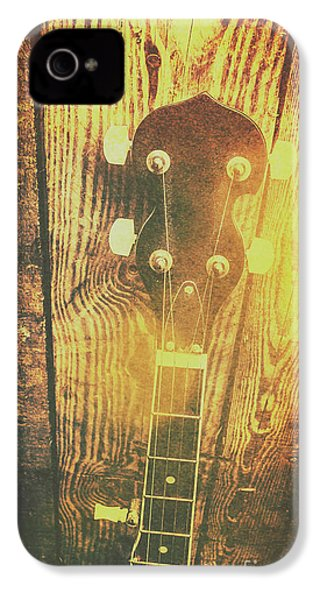 Golden Banjo Neck In Retro Folk Style IPhone 4s Case by Jorgo Photography - Wall Art Gallery