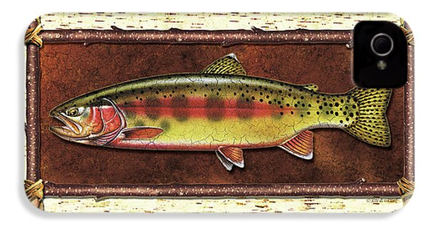 Golden Trout Lodge IPhone 4s Case by JQ Licensing