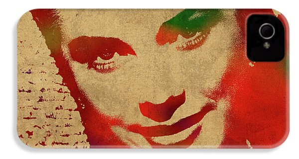 Grace Kelly Watercolor Portrait IPhone 4s Case by Design Turnpike