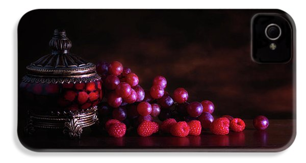 Grape Raspberry IPhone 4s Case by Tom Mc Nemar