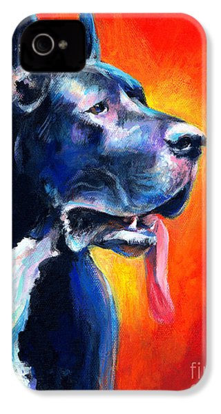Great Dane Dog Portrait IPhone 4s Case by Svetlana Novikova
